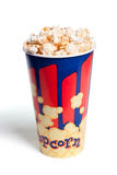 Tall bowl with popcorn Royalty Free Stock Photography