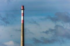 Tall brick chimney royalty free stock image