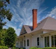 Tall Brick Chimney In Farmhouse Royalty Free Stock Photo