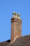Tall brick chimney, Stratford-upon-Avon. Royalty Free Stock Photo