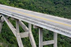 Tall bridge crossing a green valley Royalty Free Stock Photos