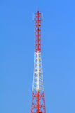Tall broadcast wave tower Stock Images