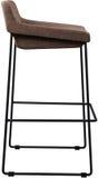 Tall brown bar stool isolated on white. Modern designer Bar chair. Stock Image