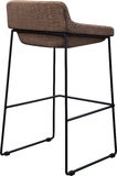 Tall brown bar stool isolated on white. Modern designer Bar chair. Stock Photography