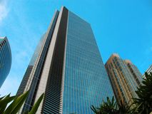 Tall building in makati manila philippines Royalty Free Stock Photo