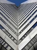 Tall Building. Looking WAY up the corner of a building Royalty Free Stock Photography