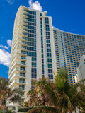 Tall Building At Tropical Resort Stock Photo