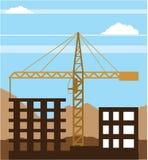 Tall building Crane sky Royalty Free Stock Photos