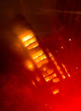 Tall building on fire / big fires  burnning Royalty Free Stock Photos