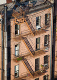 Tall building with fire escape seen from above Royalty Free Stock Image
