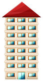 Tall building. Illustration of a tall building on a white background Royalty Free Stock Photo