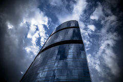 Tall building reflecting Clouds Royalty Free Stock Image