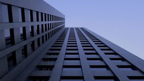 Tall building - skyscraper, architecture. View from bottom. Ultra HD 4k. Tall building - skyscraper, architecture. View from bottom to top in Ultra HD 4k stock video footage