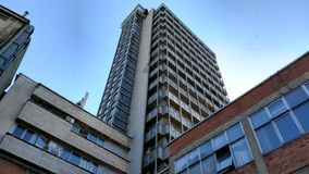 Tall building. In center of Belgrade Royalty Free Stock Photography