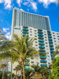 Tall building at tropical resort Stock Image