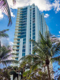 Tall building at tropical resort Stock Photography