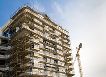 Tall building under construction Royalty Free Stock Images