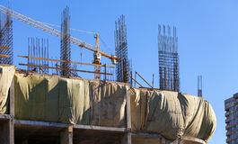 Tall building under construction Royalty Free Stock Photography
