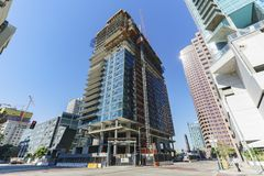 Tall building under construction Royalty Free Stock Photo