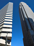 Tall Buildings. Two tall buildings in Charlotte North Carolina royalty free stock photo