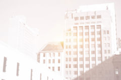 tall buildings with bright light Stock Photography