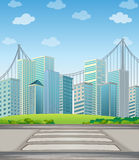 Tall buildings in the city Stock Image