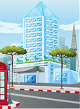 Tall buildings in the city. Illustration Stock Images
