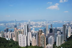Tall Buildings in hongkong Stock Photography