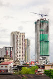 Tall buildings located in Manila, Philippines Royalty Free Stock Photo