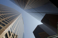 Tall Buildings - looking up Royalty Free Stock Photography
