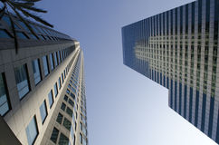 Tall Buildings - looking up Royalty Free Stock Photo
