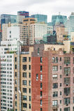 Tall buildings of Manhattan, New York City - USA Stock Photo