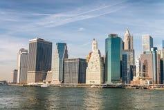 Tall buildings of Manhattan, New York City - USA Stock Photos