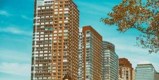 Tall buildings of Manhattan, New York City - USA Stock Photo