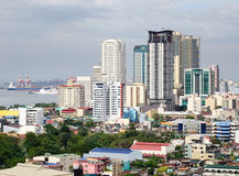 Tall buildings in Manila, Philippines Royalty Free Stock Image