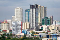 Tall buildings in Manila, Philippines Stock Images