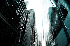 Tall Buildings New York City Stock Image