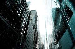 Tall Buildings New York City Stock Image