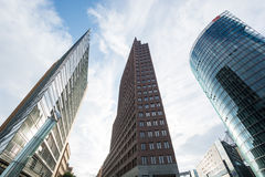 Tall buildings at Potzdamer Platz Royalty Free Stock Photo
