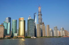 Tall buildings in Pudong stock photography