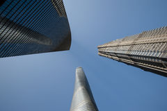 3 Tall Buildings in Shanghai, Including the Third Tallest Building in the World Royalty Free Stock Photography