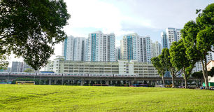 Tall buildings in Singapore Royalty Free Stock Image