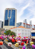 Tall buildings in Singapore Stock Photo