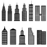 Tall buildings and skyscrapers royalty free illustration