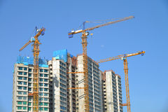 Tall Buildings Under Construction Stock Photography