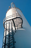 Tall Bulk Silo. Dry bulk materials in large silo stock images