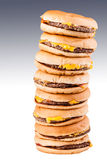 Tall burgers Stock Image
