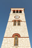 Tall Campanile against the sky. Royalty Free Stock Photos