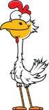 Tall Cartoon Chicken. Illustration of a tall cartoon chicken Royalty Free Stock Photography
