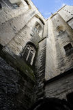 Tall Castle Wall from Below Royalty Free Stock Photos